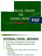 Internal Trade or Home Trade
