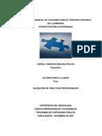 DISEÑO DE UN MANUAL DE FUNCIONES PARA EL PROCESO CONTABLE DE LA EMPRESA
