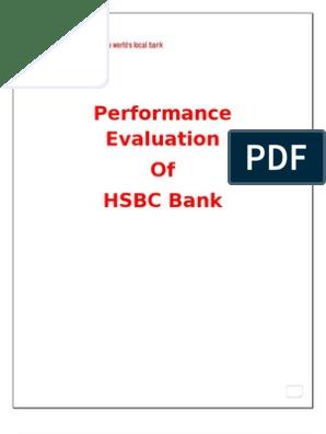 Performance Evaluation of HSBC Bank | Leverage (Finance) | Revenue
