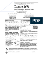 Kingstowne Center for Active Adults Newsletter August 2011