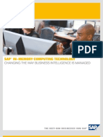 SAP in-Memory Computing Technology [1]