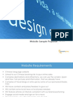 Sample Website Proposal Airline Example