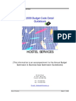 Shelter, Support & Housing Administration Division - Toronto - 2009 Budget Code Detail Guidebook  - HOSTEL SERVICES