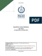2011 2nd Quarter Crime Statistics