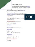 Teoremas para el cálculo de la derivada