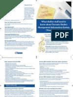 Staff Brochure Shelter Management Information System - SMIS Toronto