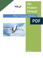 Air France Virtual Pilot Training Syllabus [DRAFT 1]