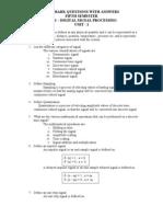 CS331-DigitalSignal Processing Two Marks