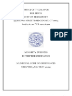 Minority Business Enterprise Ordinance Bridgeport Ct