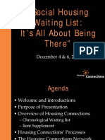 "Housing Connections - ""Social Housing Waiting List"