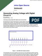 Generating Analog Voltage With Digital Circuit (I)