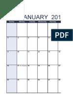 Salinan 2011 Monthly Calendar - Portrait