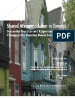 ORIOLE RESEARCH & DESIGN INC.  URBAN AND SOCIAL POLICY, PROJECT MANAGEMENT AND CONSULTING Shared Accommodation in Toronto