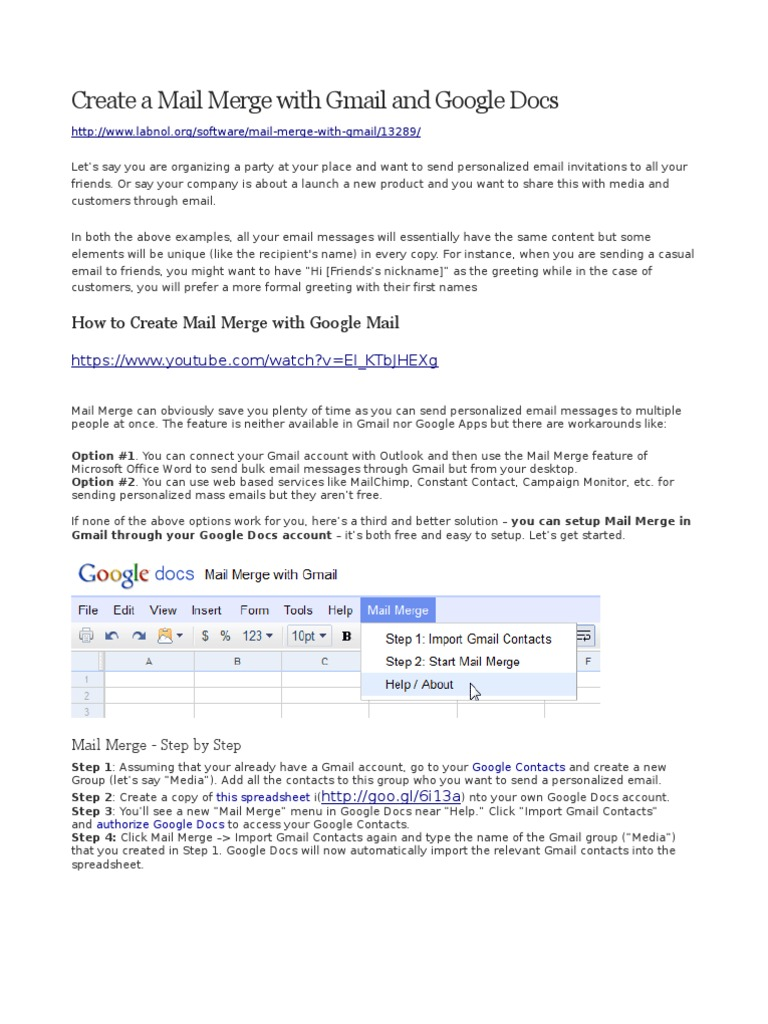 Create a Mail Merge With Gmail and Google Docs | Gmail (70