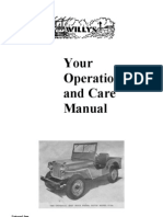 Jeep CJ-2A Willys Operation and Care Manual