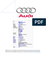 Audi Assignment