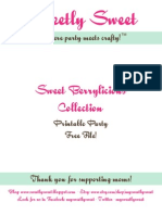 Sweet Berrylicious Free PDF Pack by Sweetly Sweet