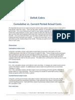 Deltek Cobra - Cumulative vs Current Period Actuals