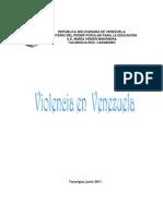 Trabajo Violencia en Venezuela