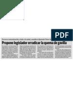 10-07-11 Propone or Erradicar La Quema de Gavilla