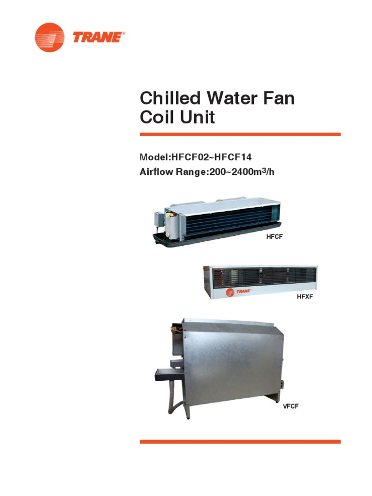 Fan Coil Hfcf Hvac Thermostat Trane Unit Wiring Diagram