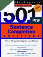 SAT 501 Sentence Completion