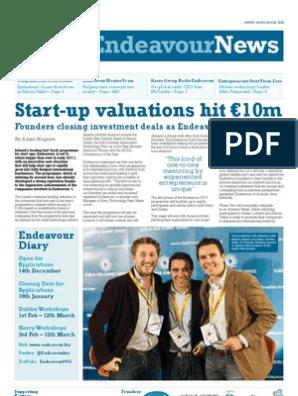 Endeavour News 2011 Q1   Tech Start Ups   Startup Company