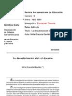rie19a05  LA DESVALORIZACIÓN DEL ROL DOCENTE