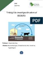 trabajo de investigación biogas