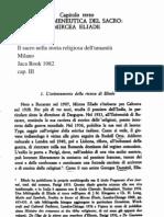 Ries, Ermeneutica del Sacro.Eliade