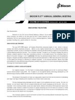 Biocon Annual Meeting 200705