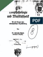 Schole, Tonpsychologie und Musikaesthetik