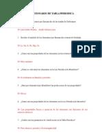 Cuestionario de Tabla Periodica