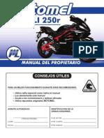 MEGELLI 250R-Manual Del rio