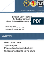 Efficient VoIP Solution for the Env of TUKEv3