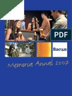 Backus-MemoriaAnual2007