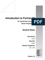 Introduction to Fortran 90