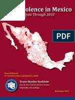 Drug Violence in Mexico Through 2010