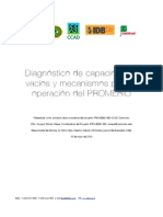 Diagnóstico de capacidades, vacíos y mecanismos para la operación del PROMEBIO