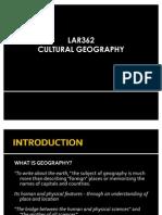 Lar362 Cultural Geography