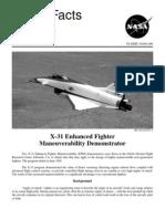 NASA Facts X-31 Enhanced Fighter Maneuverablility Demonstrator 1995