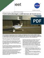 NASA Led Technologies Could Increase Air Travel Access