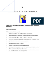 Taxonomía de los microorganismos