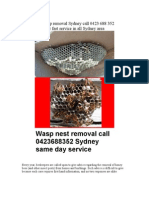 Bee Wasp Removal Sydney Call 0423 688 352