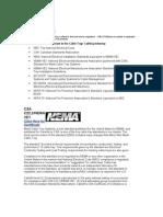 CABLOFIL Standards- Nema - Iec