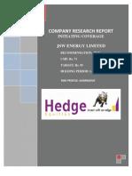 JSWEnergy Hedge 090511