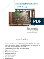 Presentation on Electronic Control Unit (ECU)92,77,83