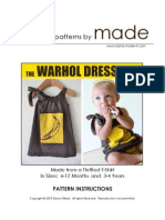 The Warhold Dress Instructions