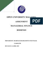 Bmmf5103 861024465000 Managerial Finance -Redo