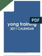 2011 Training Calendar